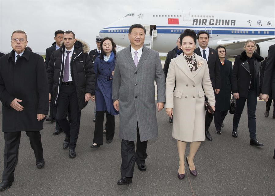 President Xi arrives in Paris for climate change conference