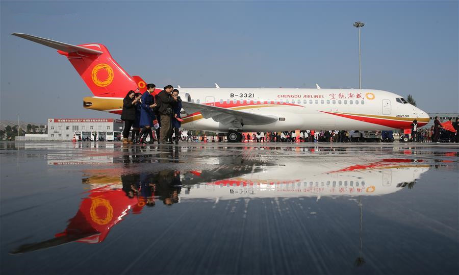 First China-developed regional jet delivered