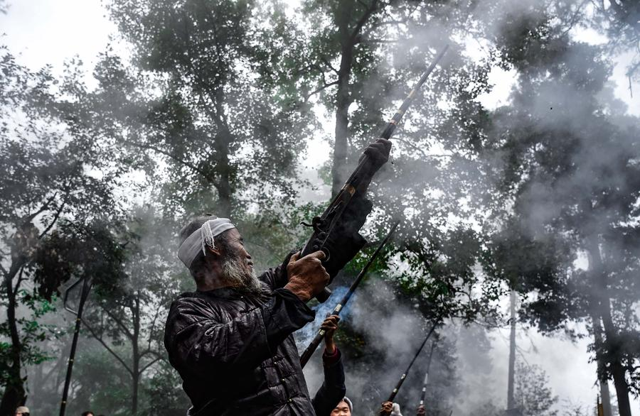 The last gunmen's tribe of Miao ethnic group in SW China