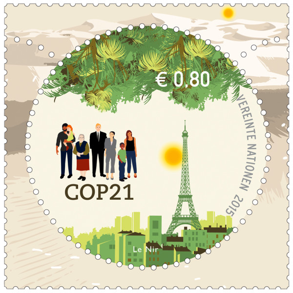 Paris Climate Conference official stamp unveiled