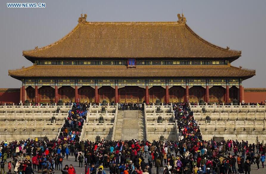 Forbidden City attracts visitors during Spring Festival