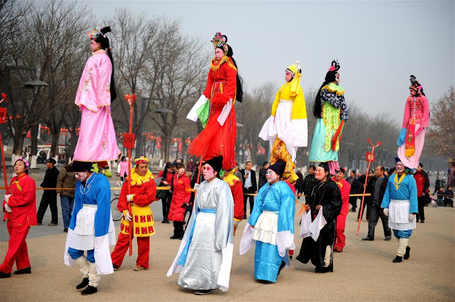 Shehuo parade performed in China's Xi'an