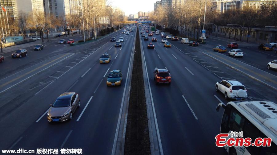 Easy traffic at Beijing's rush hour