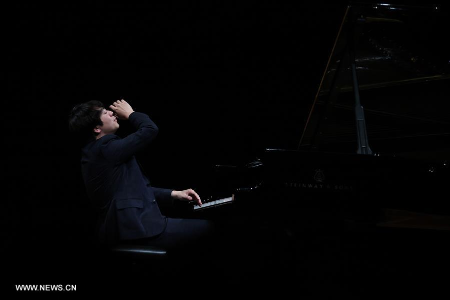 Chinese pianist Lang Lang performs at Old Opera House in Frankfurt, Germany