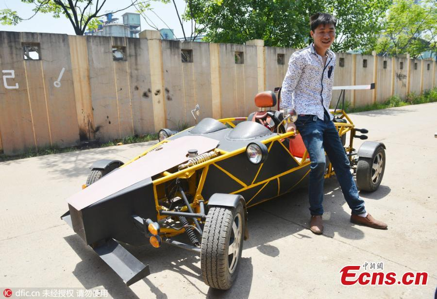 Mechanic's homemade vehicle runs up to 145 km/h