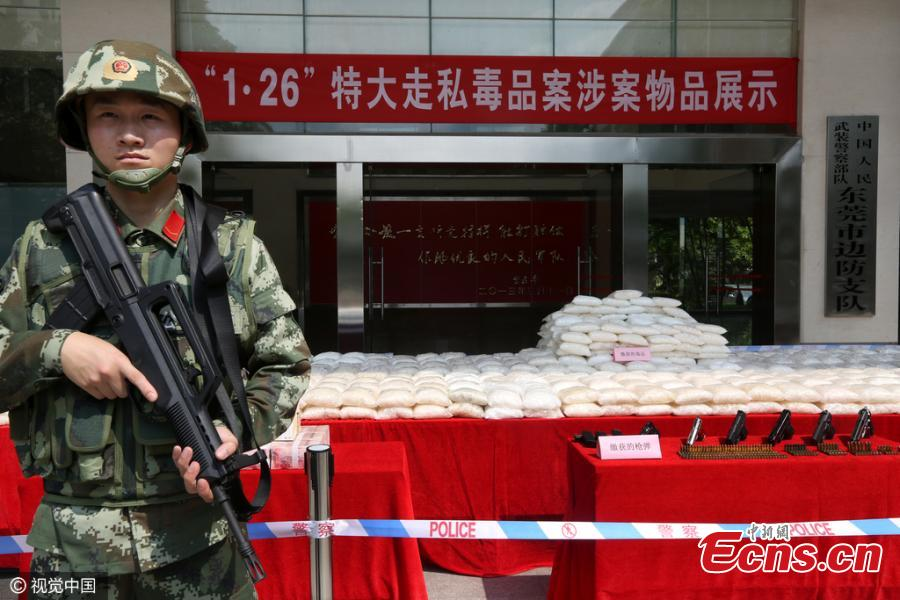 Tons of crystal meth seized in Guangdong