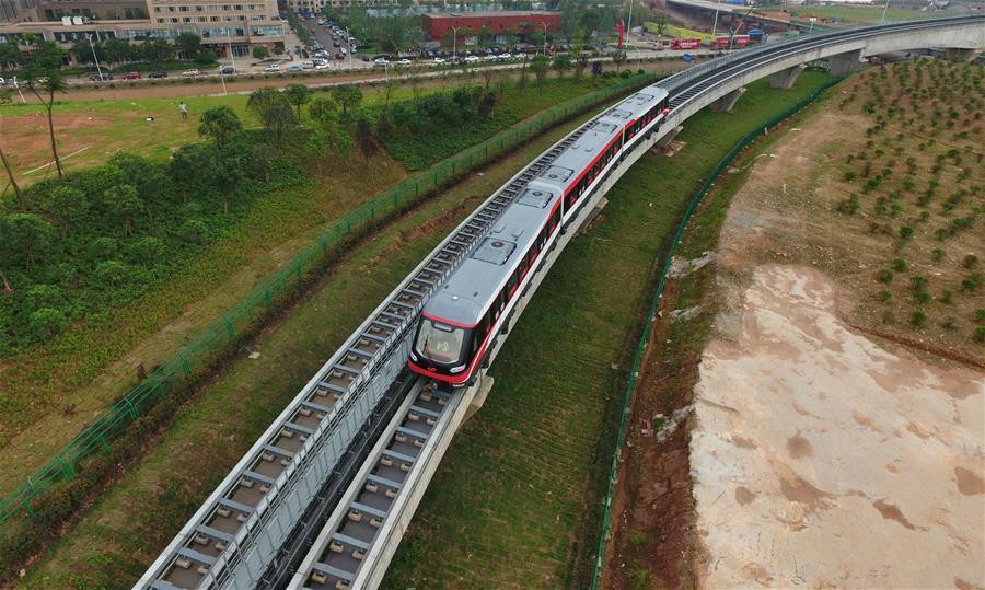 China's 1st domestically designed, manufactured magnetic levitation line starts trial run