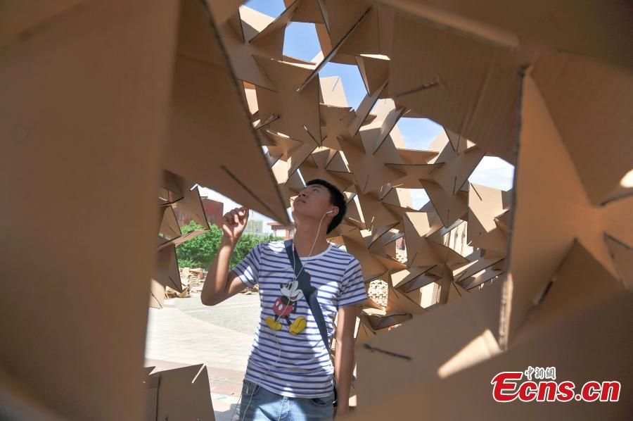 University architecture festival features cardboard structures