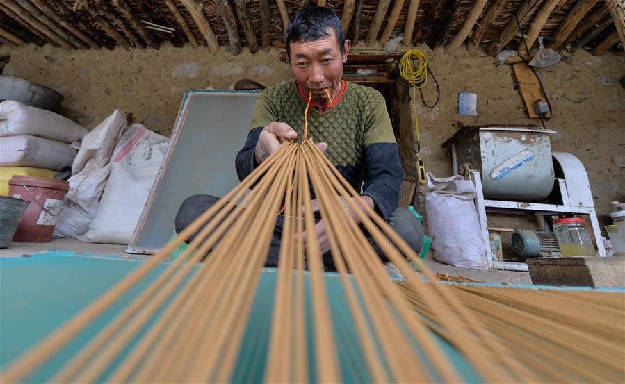 Traditional incense production in Nyemo County, Tibet