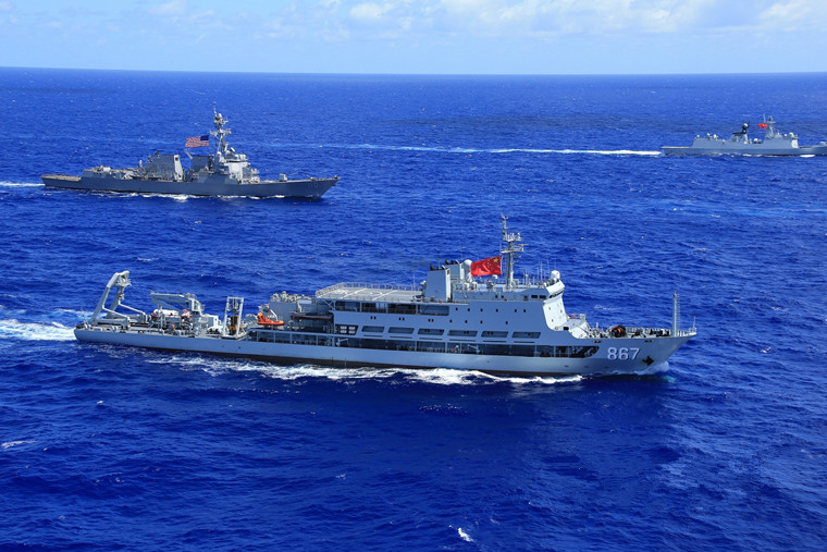 Chinese, U.S. warships conduct training near Hawaiian waters