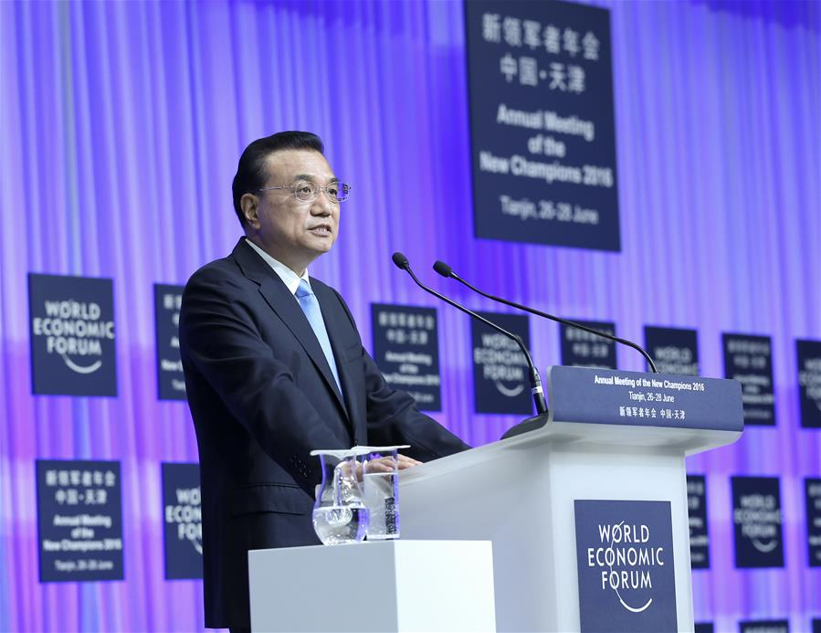 Premier Li addresses opening ceremony of Summer Davos Forum