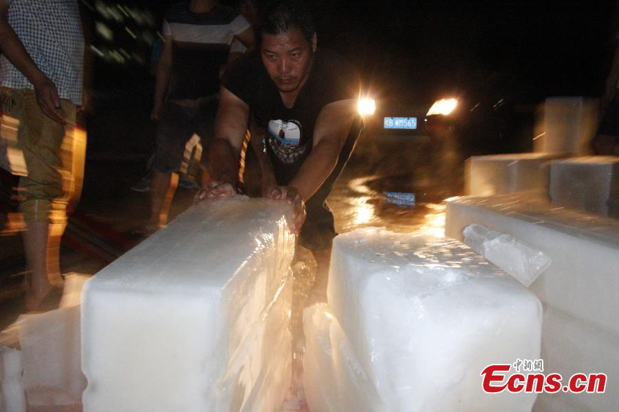 Students get 15 tons of ice to fight summer heat