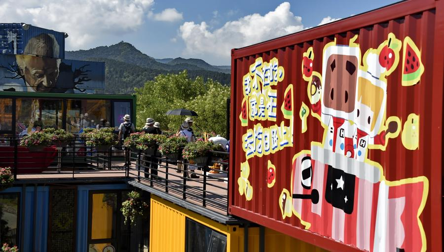 Food festival opens at 'container town' in Beijing