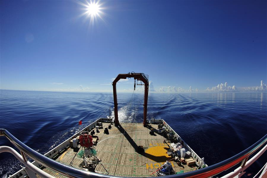 Chinese deep-sea explorer ship sails into NW Pacific Ocean
