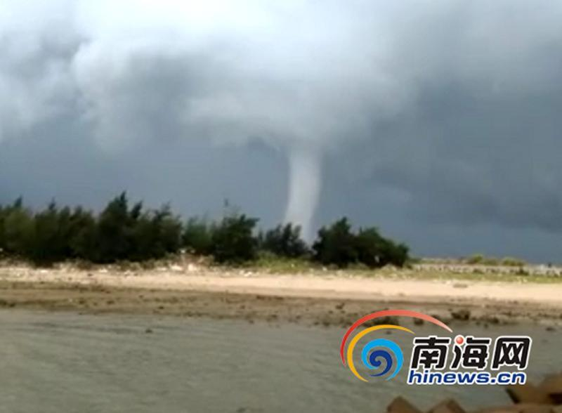 Waterspout hits southern island city