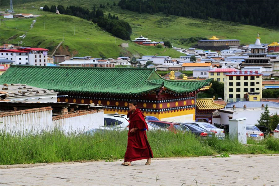 Picturesque Tibetan village in NW China