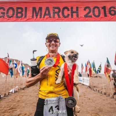 Foreign runner reunites with stray dog after 125-kilometre China trek