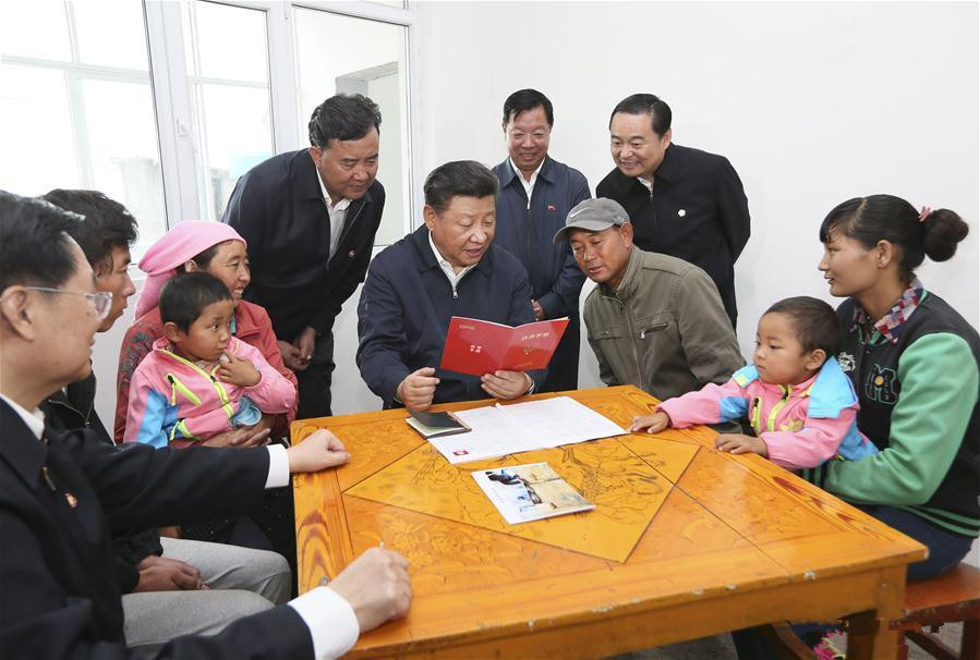 President Xi makes inspection tour in NW China's Qinghai