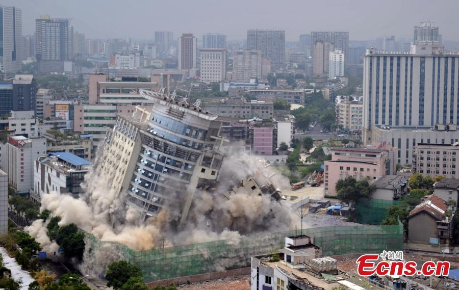 Chengdu's iconic building demolished to make way for music hall