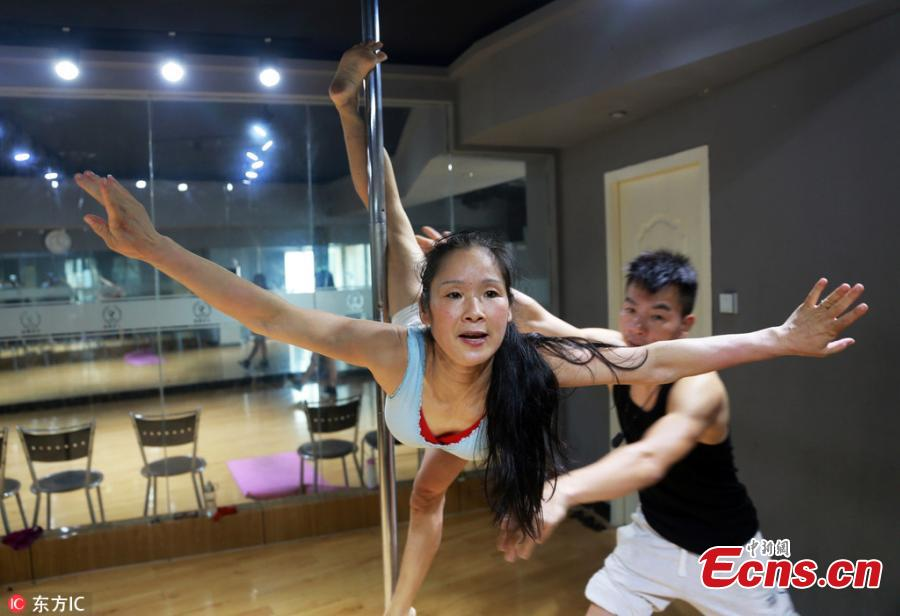 53-year-old pole dancer becomes role model