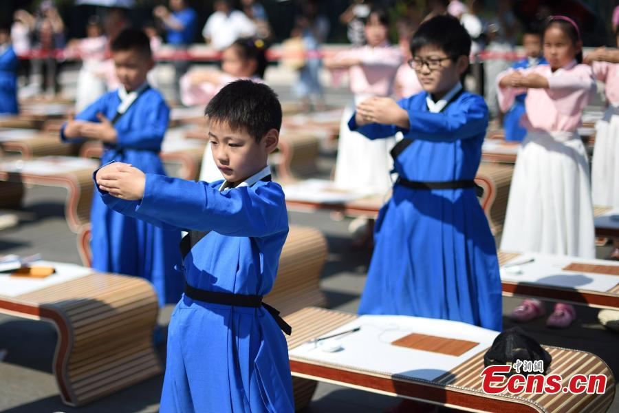 108 children attend First Writing Ceremony