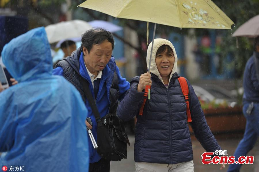 NE China residents brace for cool weather