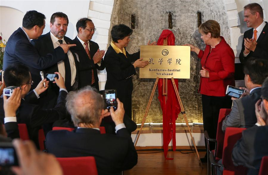 Angela Merkel inaugurates Germany's 17th Confucius Institute