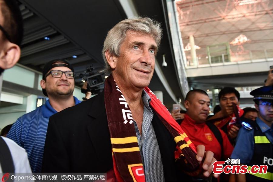 Fans welcome football club coach Pellegrini