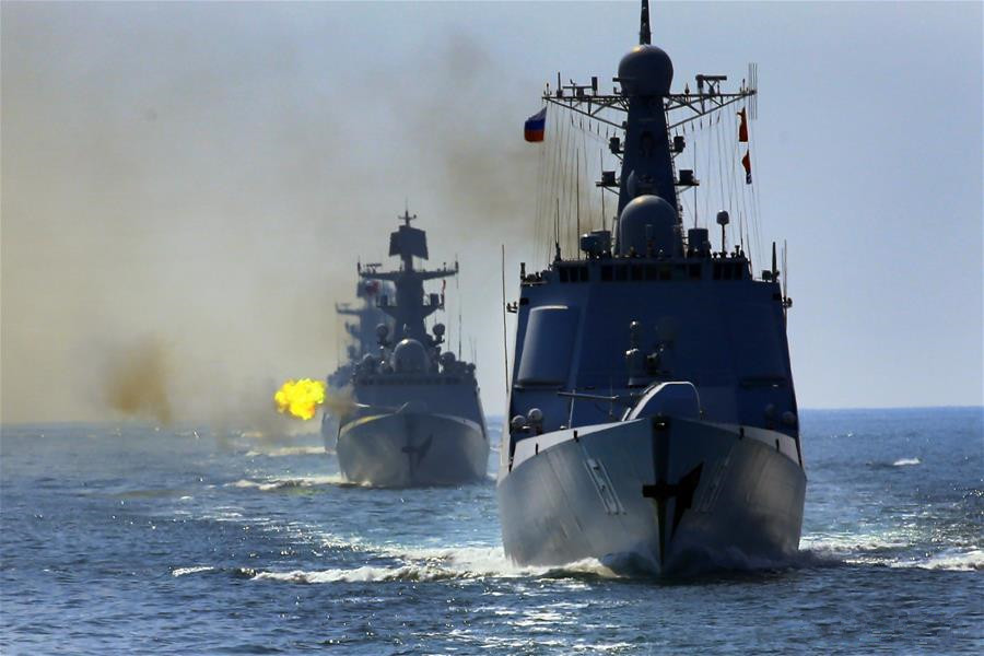 Chinese, Russian fleets conduct weapon use during joint drill