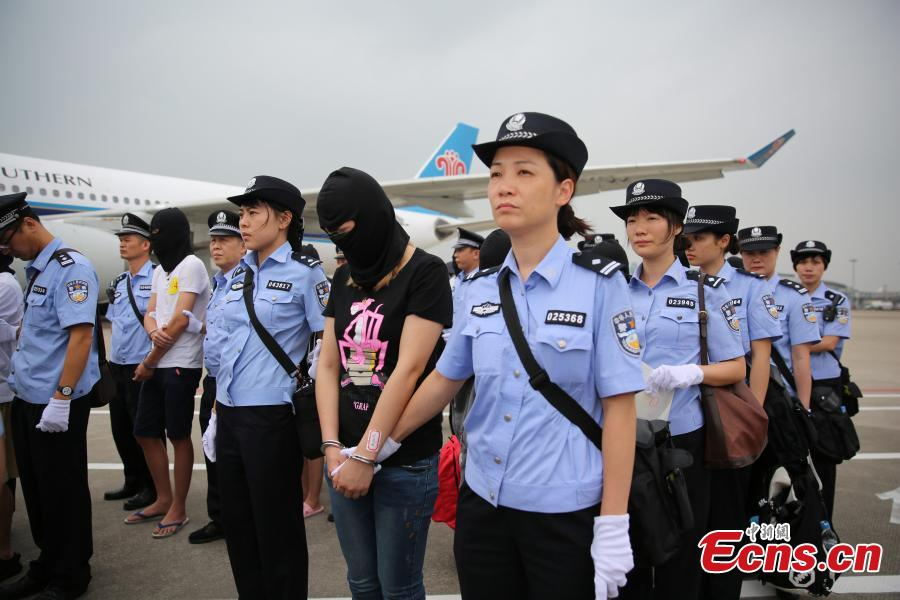 Guangdong police catch 129 telecom fraud suspects
