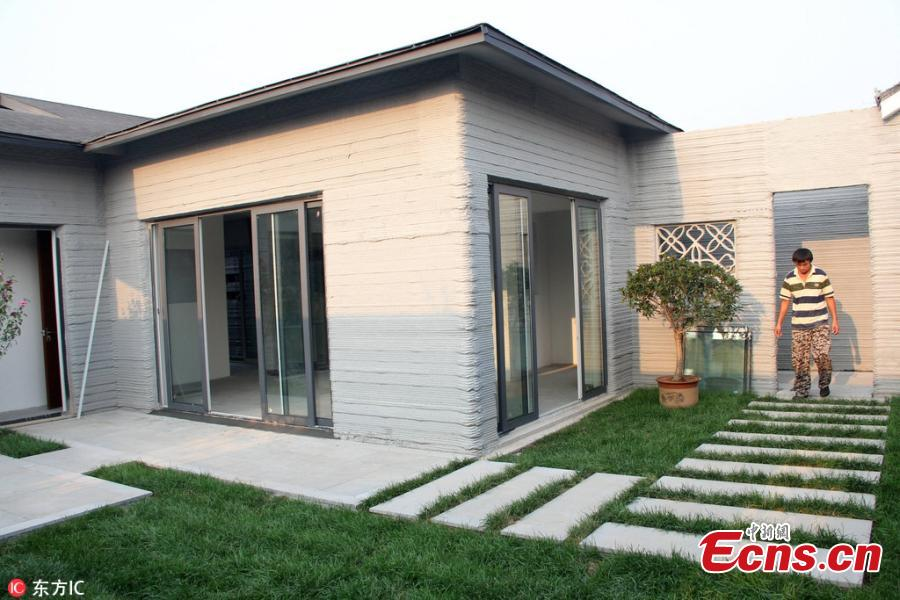 House built with 3D printing costs $750 per sqm