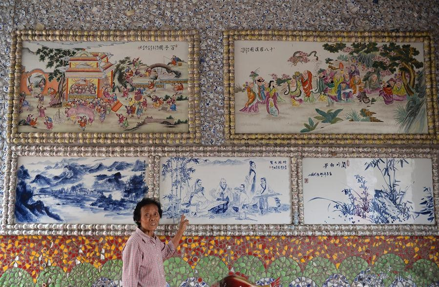 86-year-old villager and her porcelain palace