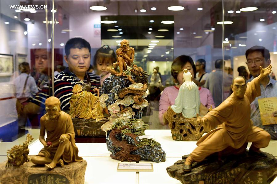 Handicrafts on display at 4th China Intangible Cultural Heritage Expo