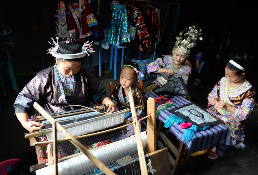 Handicraft of Miao people preserved well in S China