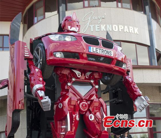 Turkish firm makes a real-life 'Transformers' car