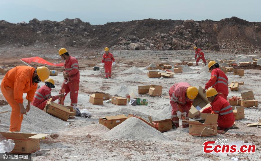 Police destroy explosives and detonators in Yunnan