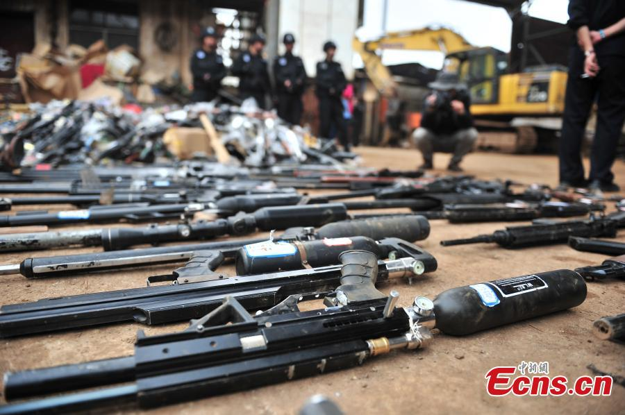 About 20,000 weapons destroyed in Yunnan