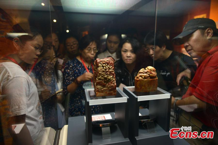 Imperial Shoushan stone treasures on display