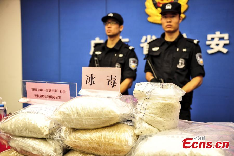 Guangdong police seize two tons of methamphetamine