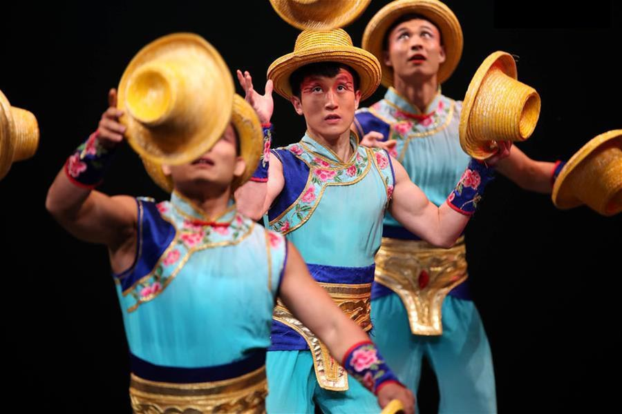 Acrobats from China perform in 'Dream Journey' in U.S.
