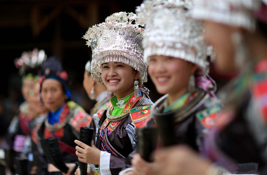 Villagers of Miao ethnic group celebrate 'Chixin' Festival