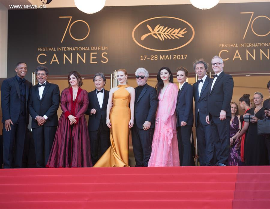 Stars attend '70th Anniversary' ceremony of Cannes Film Festival