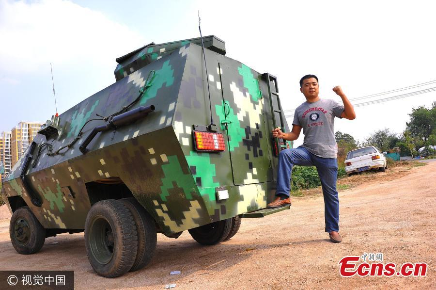 Veteran turns homemade armored vehicle into income source
