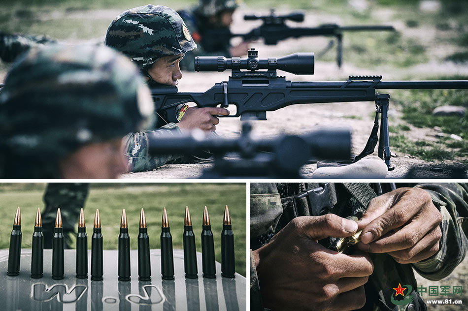 Yunnan armed police hold shooting contest during training