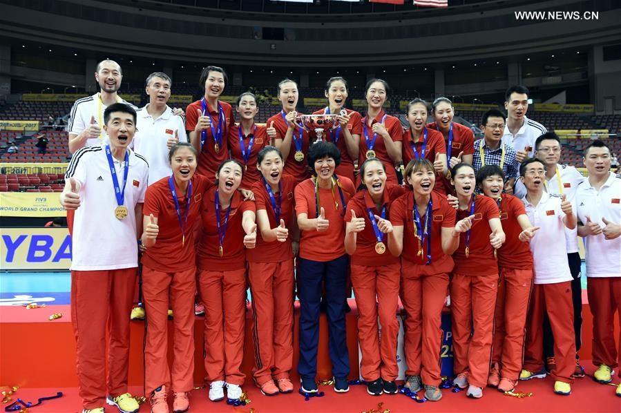 China beats Japan to claim title at 2017 FIVB World Grand Champions Cup