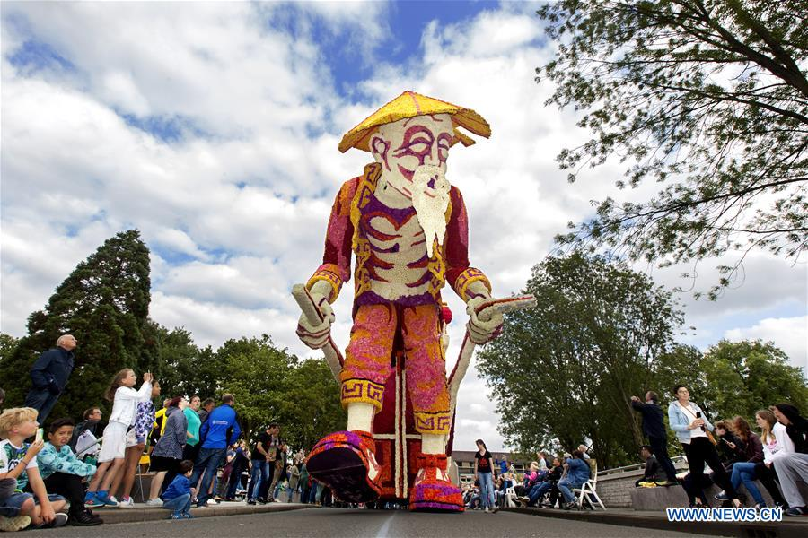 Annual flower parade held in Lichtenvoorde, Netherlands