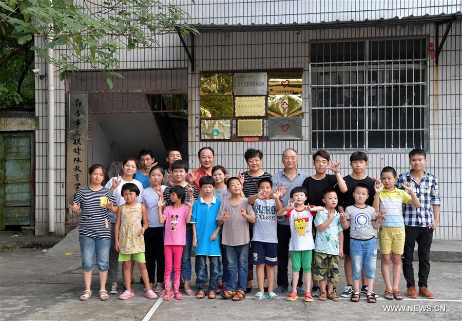 Heart warming: 74-year-old teacher and his special school