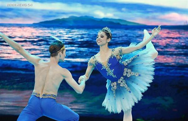 Dancers perform at BRICS Night of Ballet in SE China's Xiamen