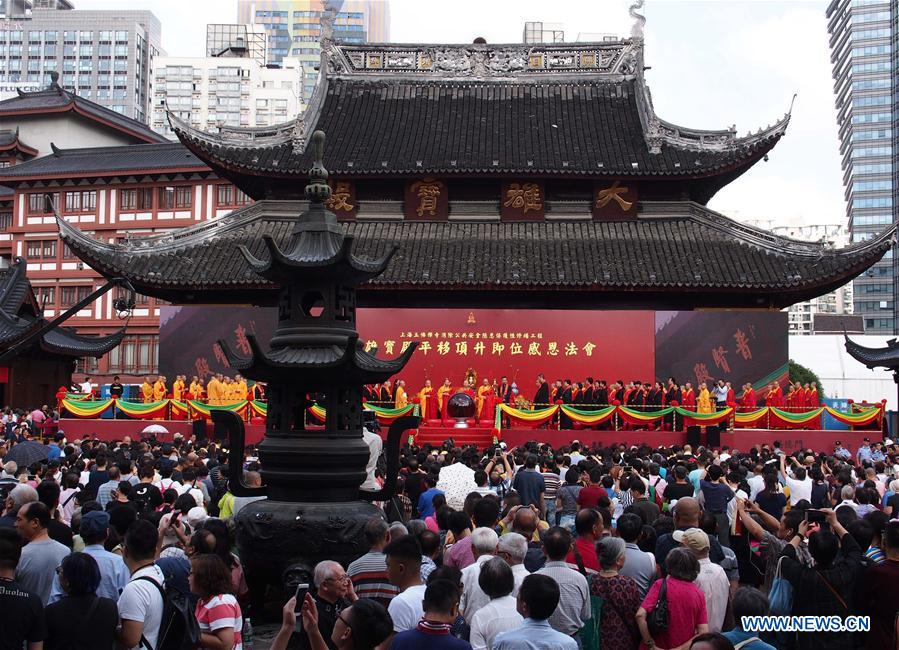 Shanghai Jade Buddha Temple's historic move completed