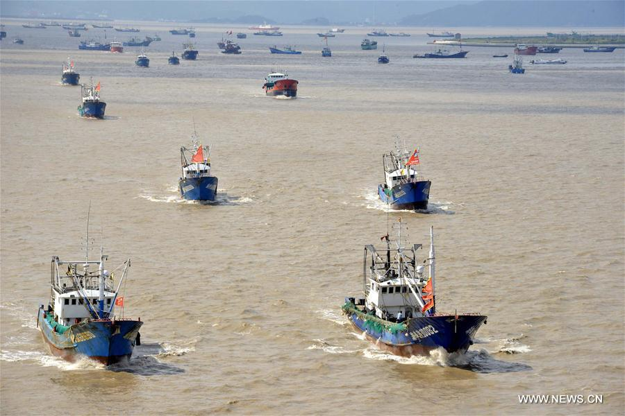 Typhoon Talim delays start of fishing in E China